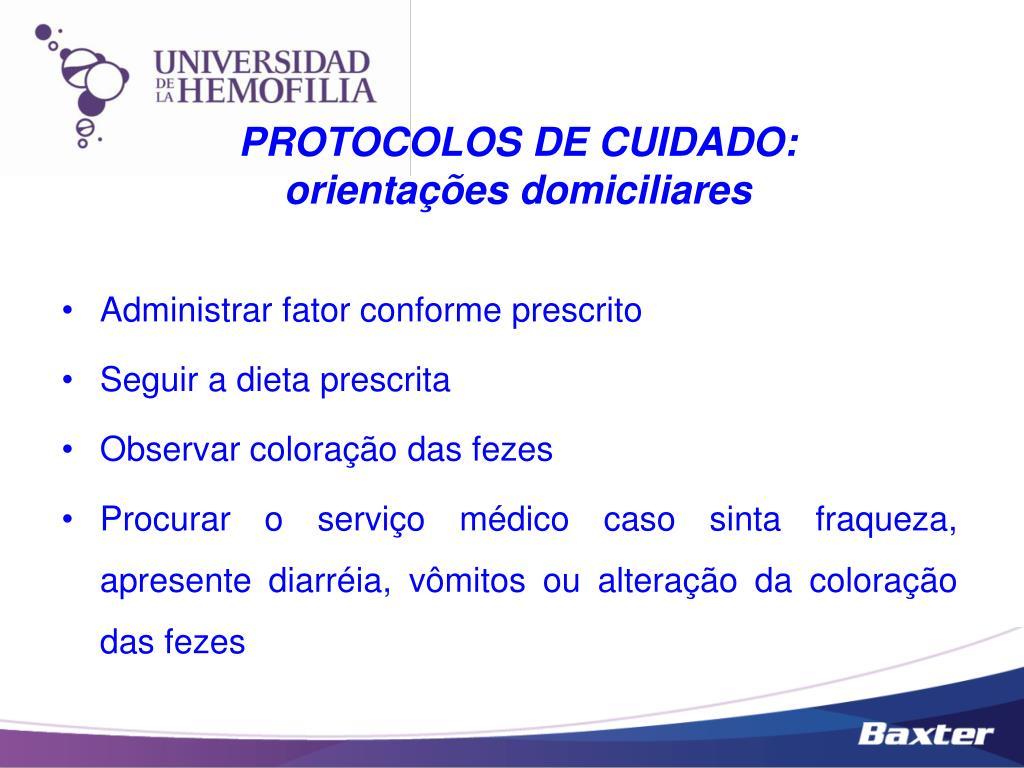 PROTOCOLOS DE CUIDADO: