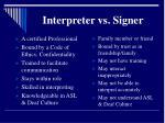 interpreter vs signer