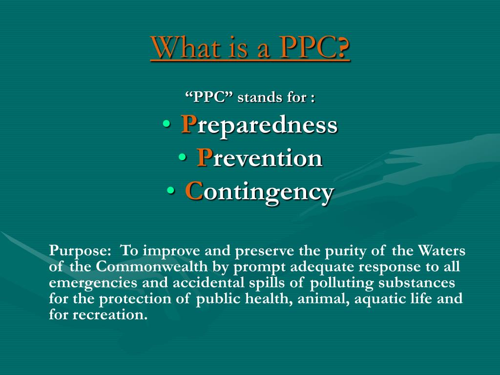 What is a PPC