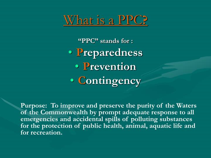 What is a ppc l.jpg