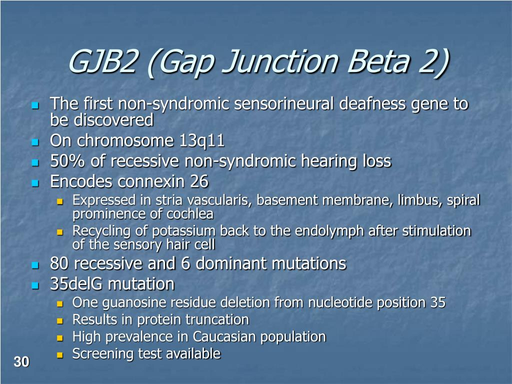 GJB2 (Gap Junction Beta 2)