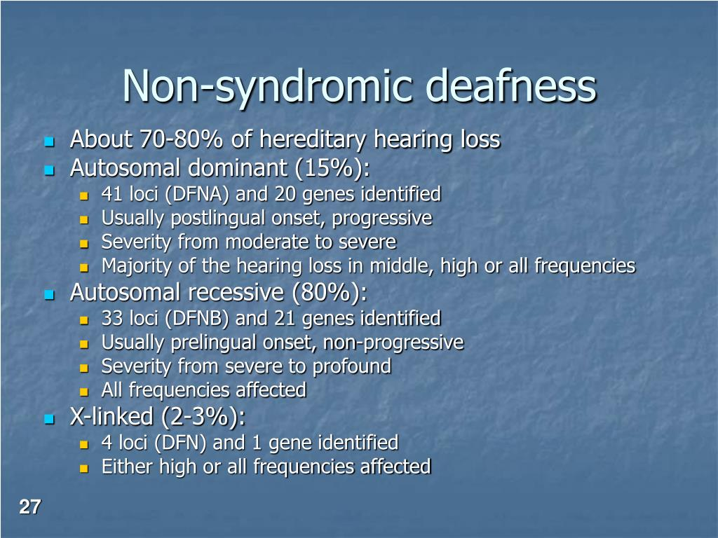 Non-syndromic deafness