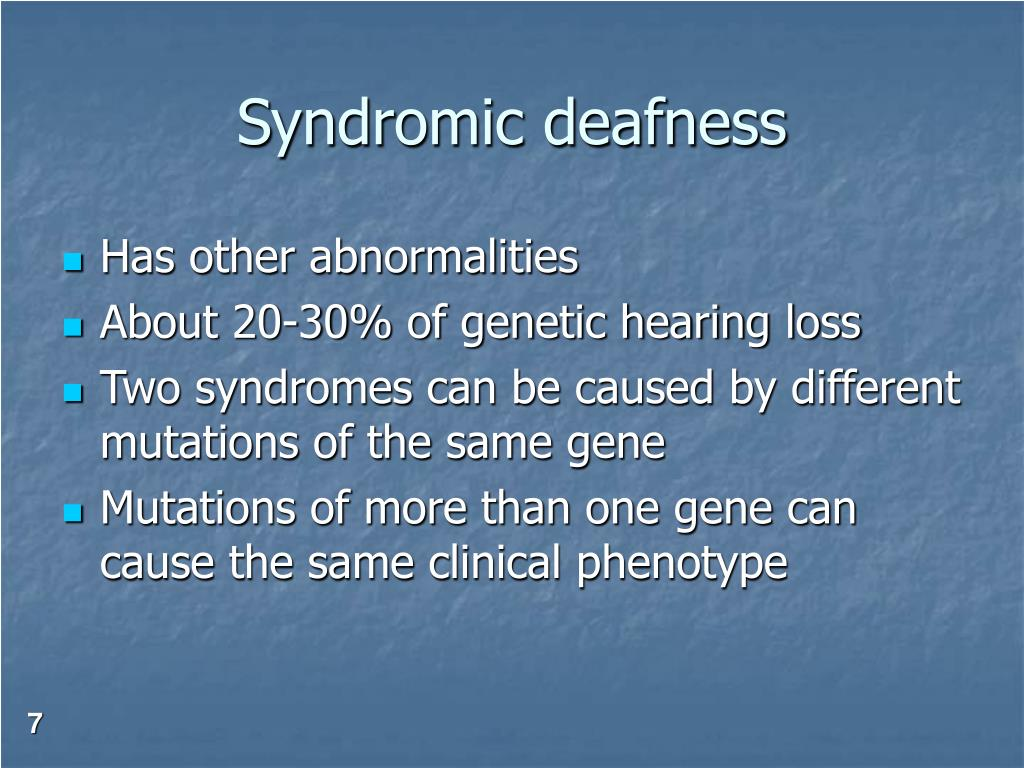 Syndromic deafness