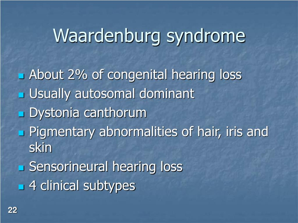 Waardenburg syndrome