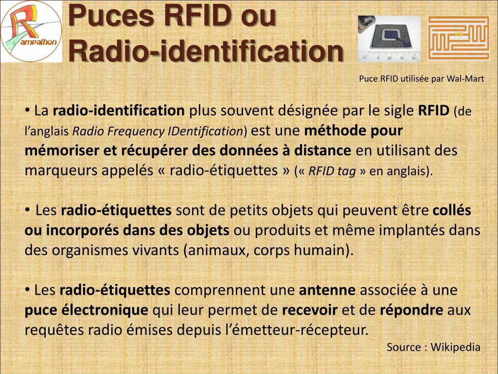 Puces RFID ou