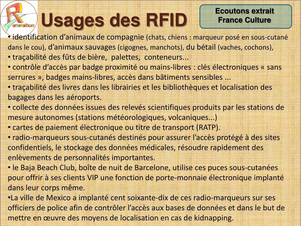 Usages des RFID