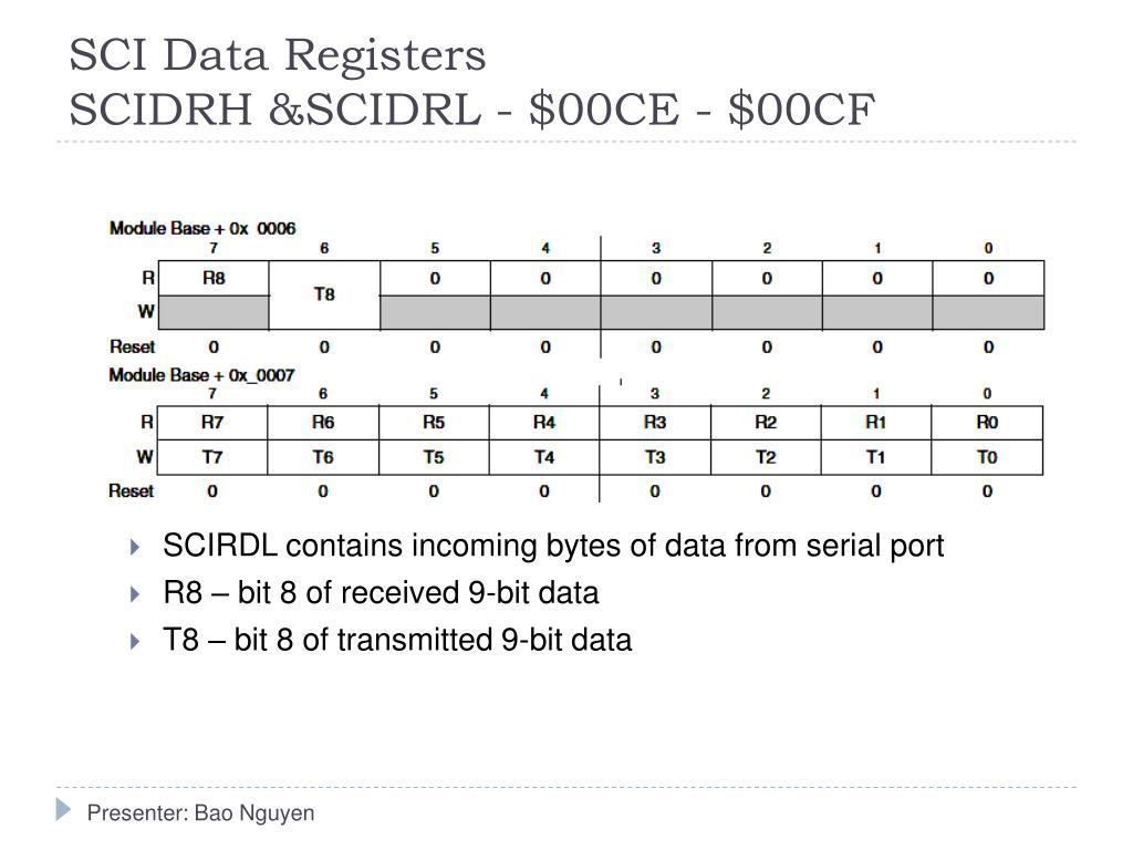 SCI Data Registers