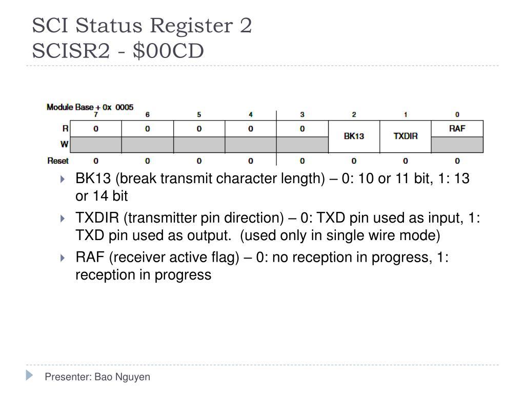 SCI Status Register 2
