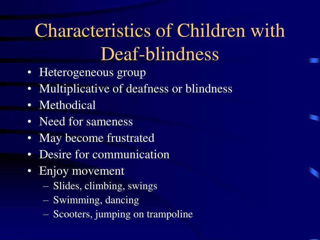 Characteristics of Children with Deaf-blindness