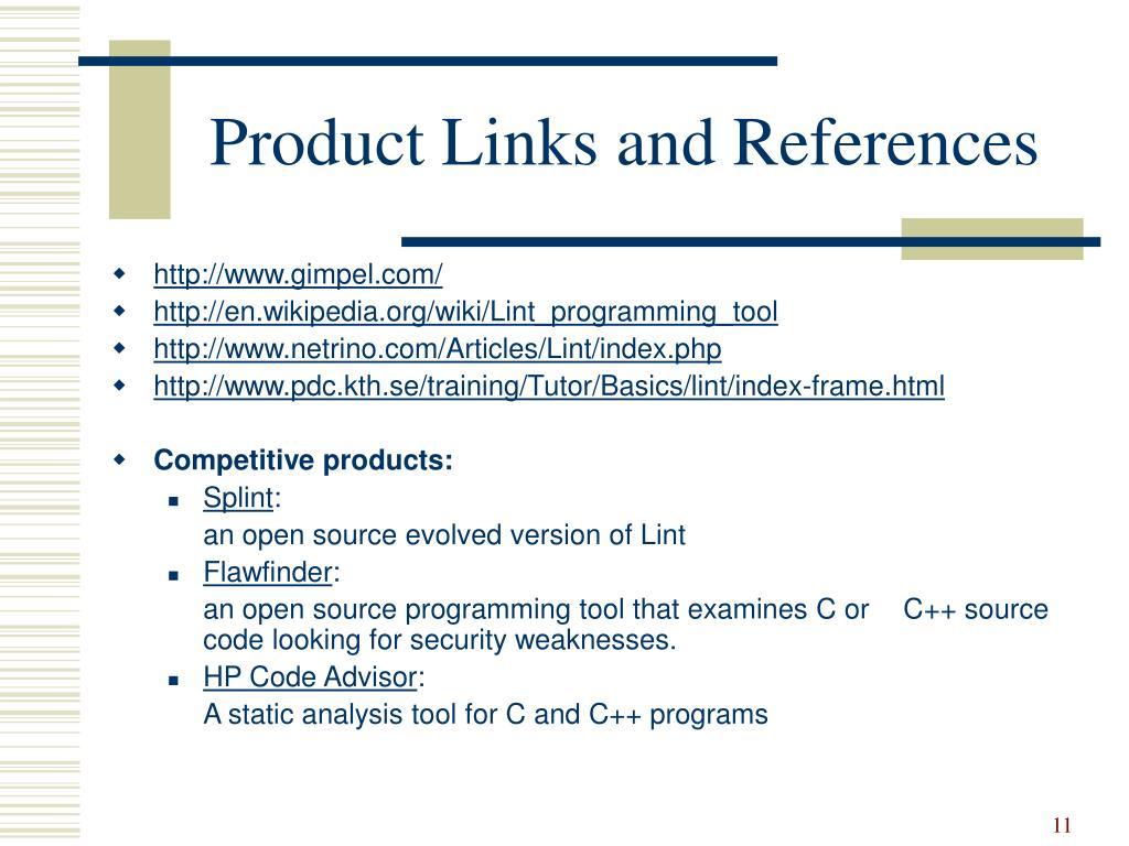 Product Links and References