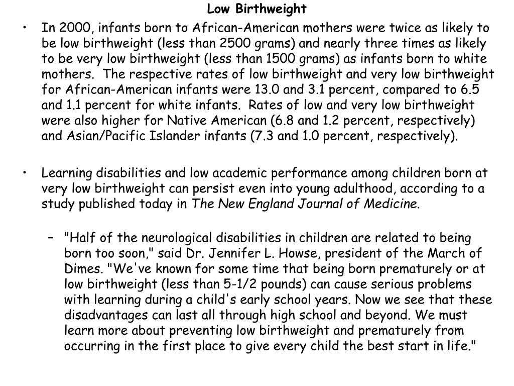 Low Birthweight