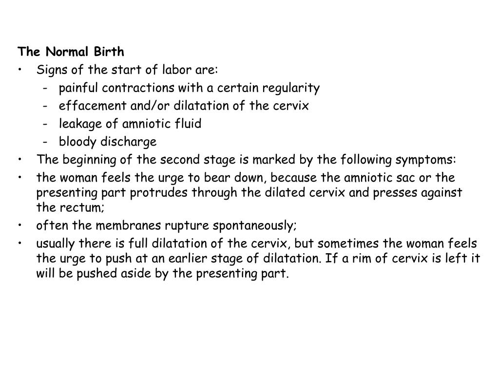 The Normal Birth