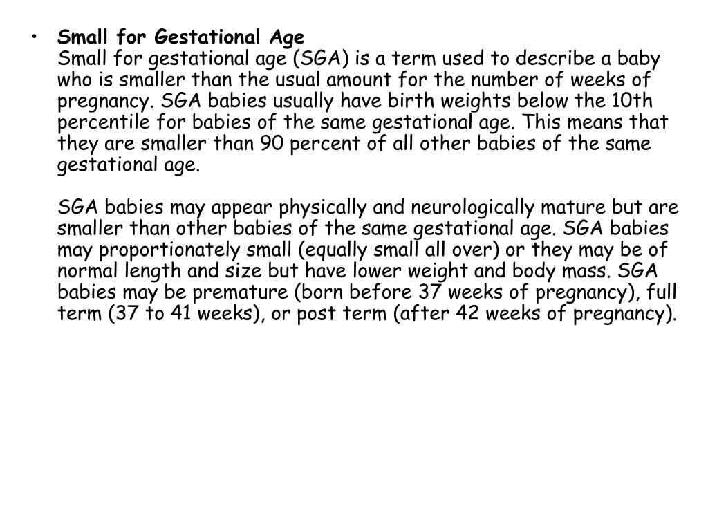 Small for Gestational Age