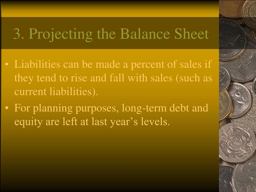 3. Projecting the Balance Sheet