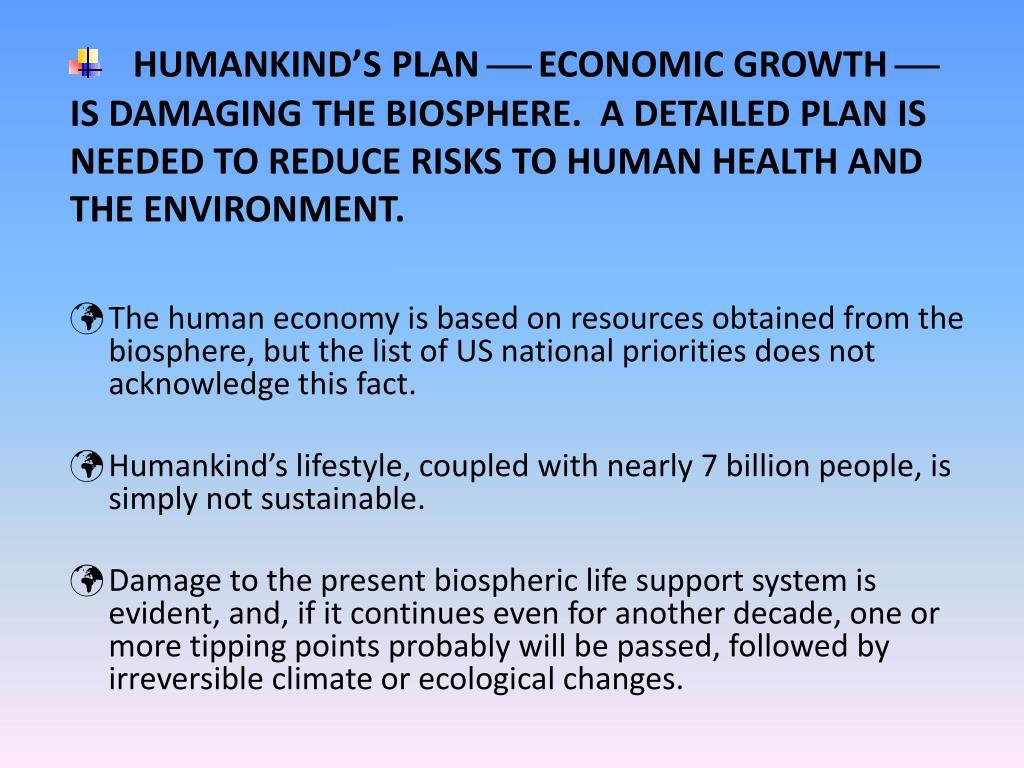 HUMANKIND'S PLAN