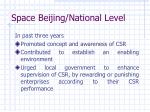 space beijing national level