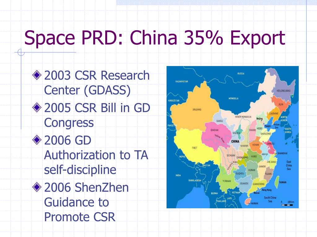Space PRD: China 35% Export