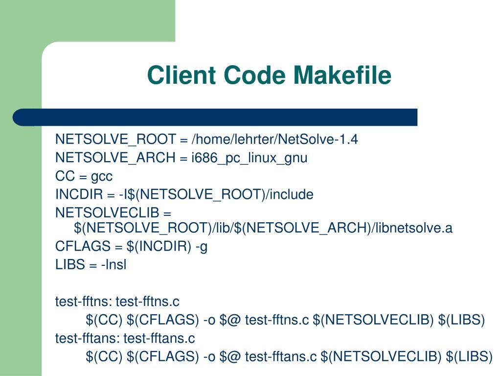 Client Code Makefile
