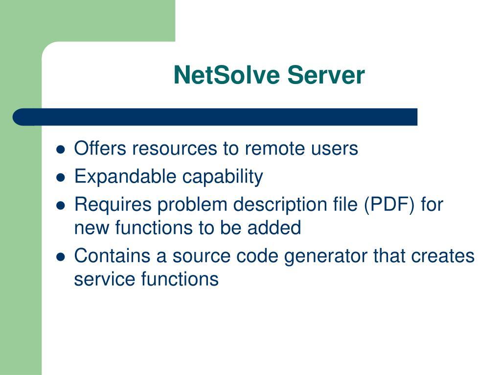 NetSolve Server