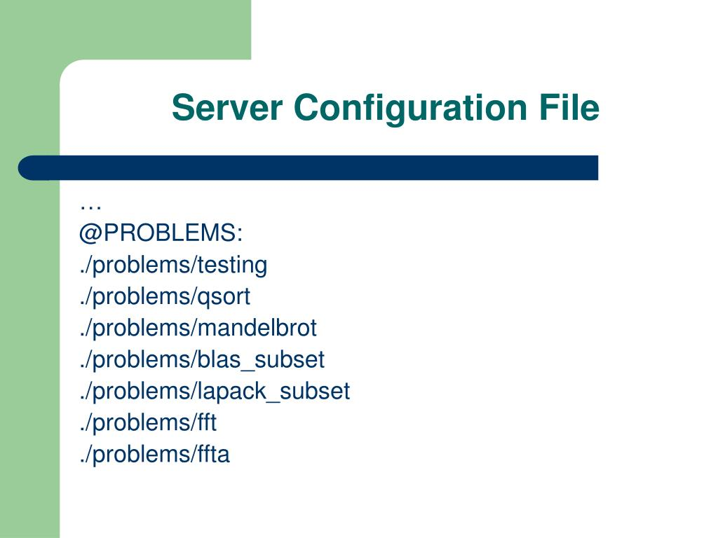 Server Configuration File