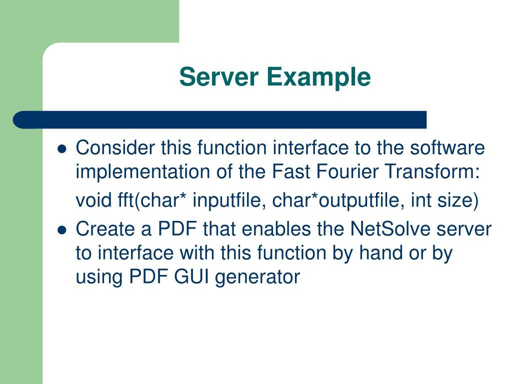 Server Example