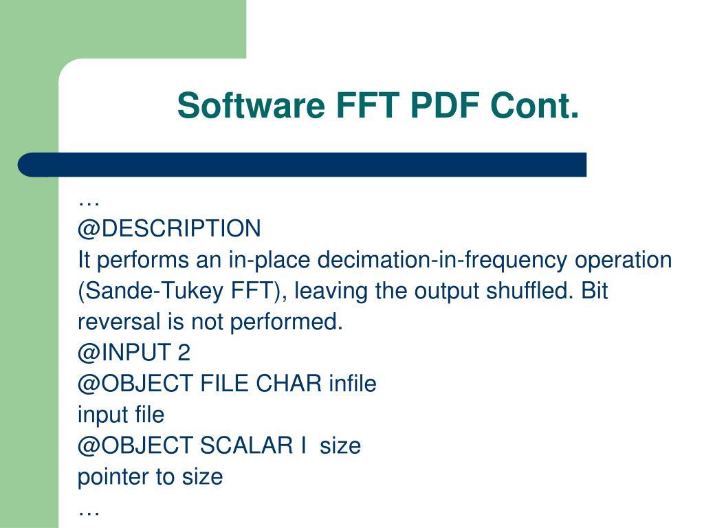 Software FFT PDF Cont.