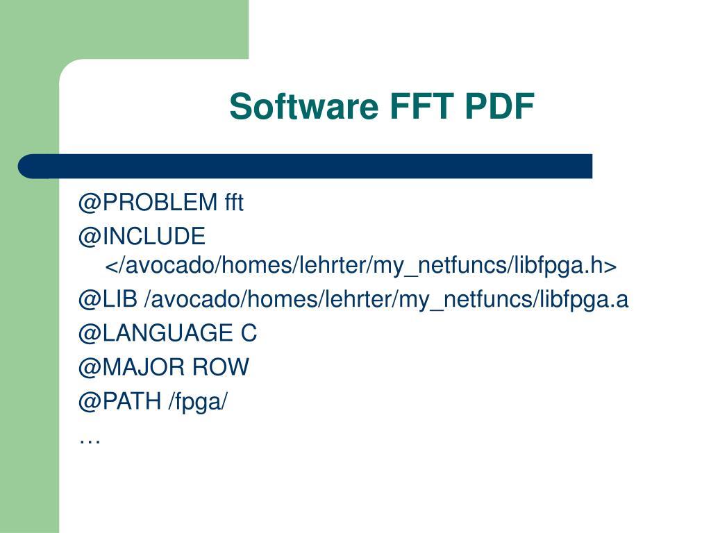 Software FFT PDF