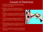 causes of deafness