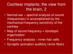 cochlear implants the view from the brain 2