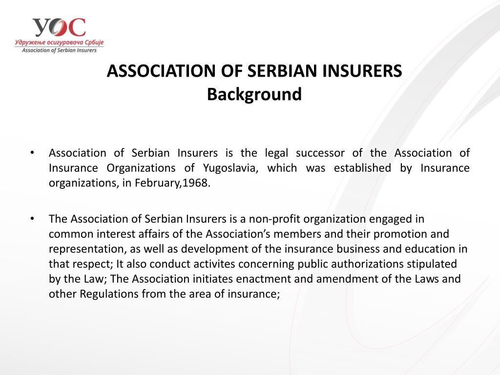 ASSOCIATION OF SERBIAN INSURERS