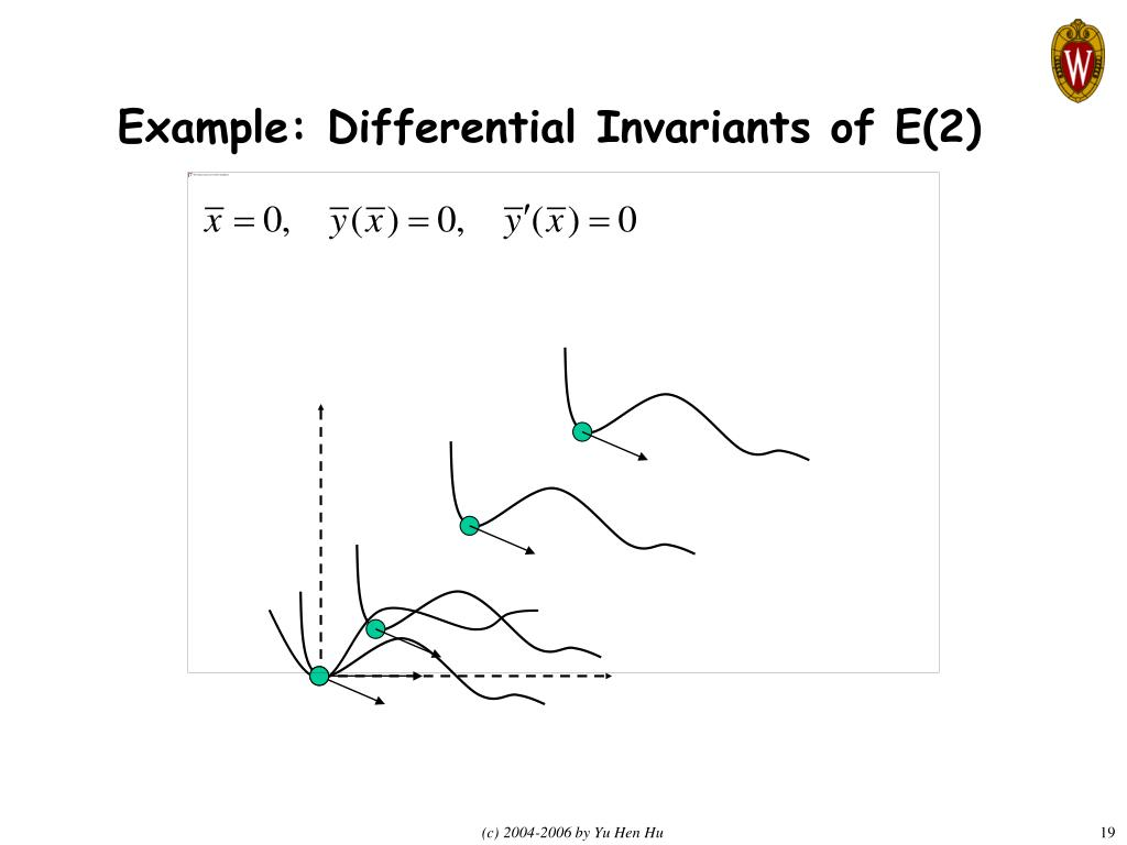 Example: Differential Invariants of E(2)