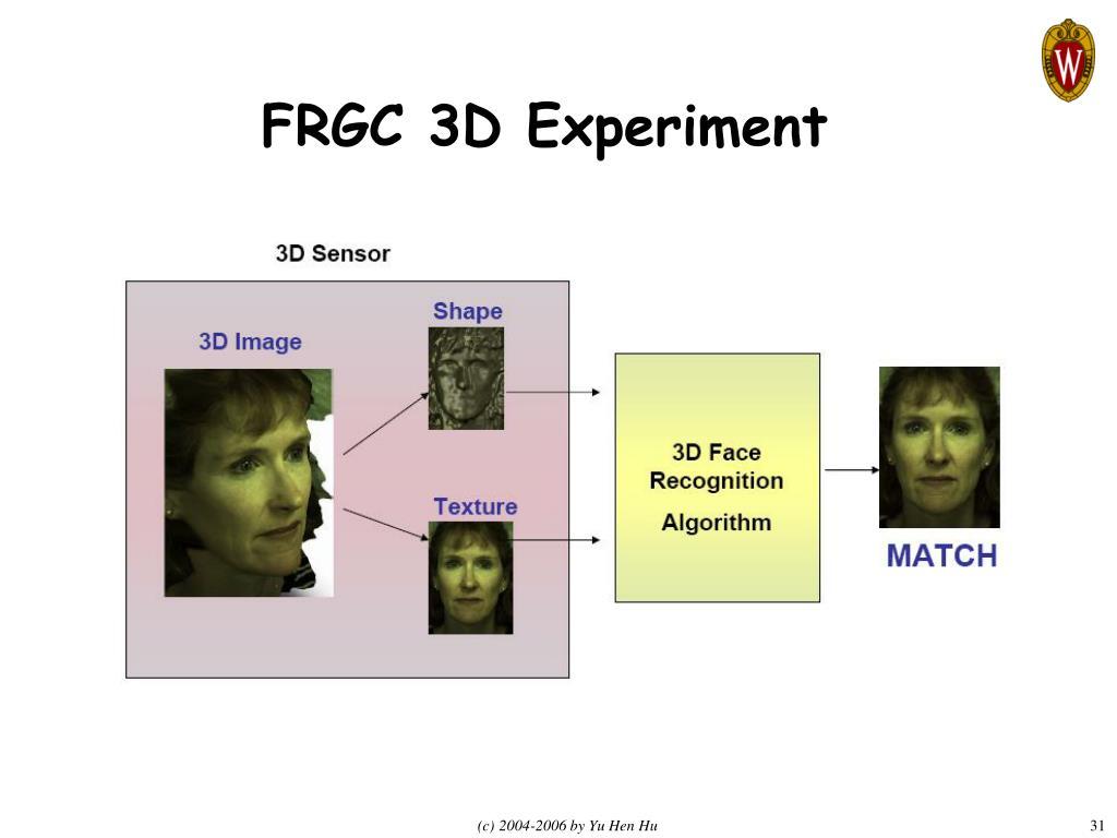 FRGC 3D Experiment
