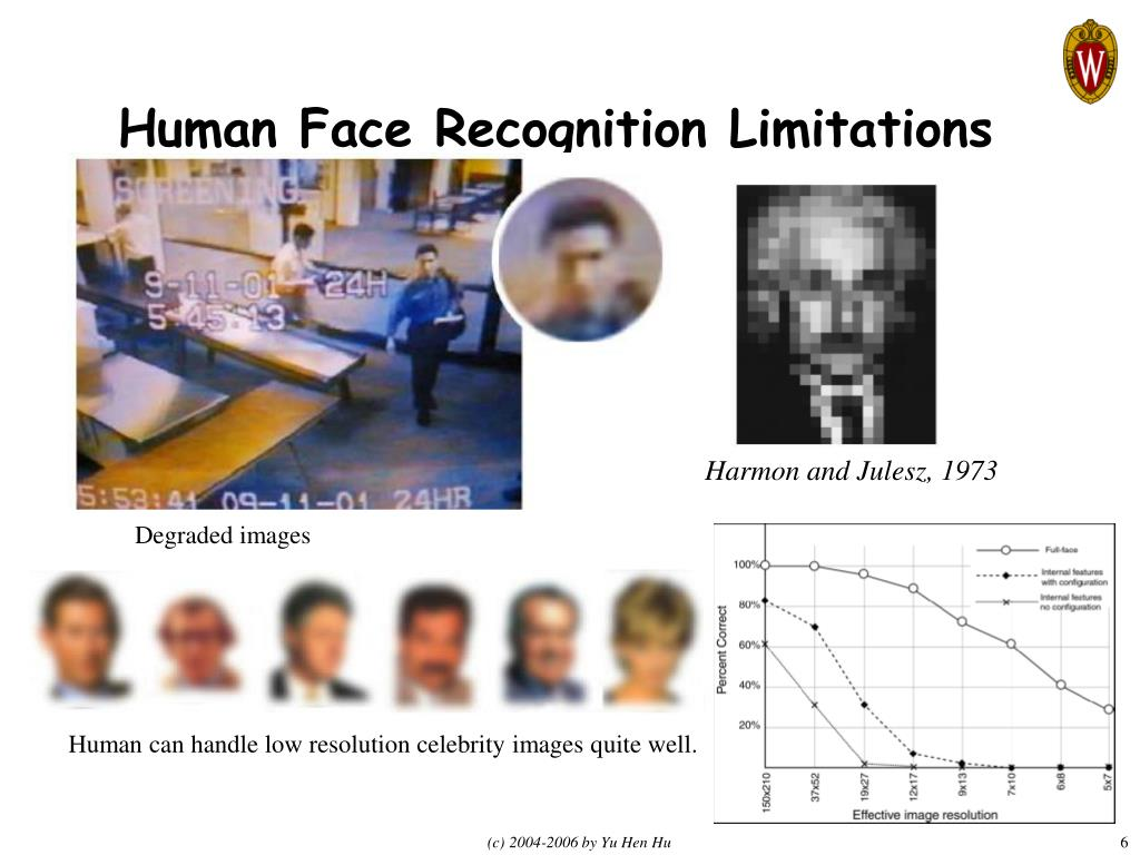 Human Face Recognition Limitations