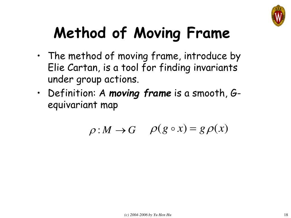 Method of Moving Frame