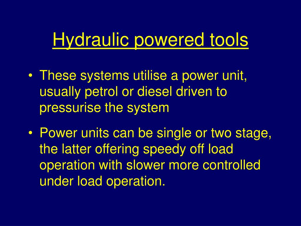 Hydraulic powered tools