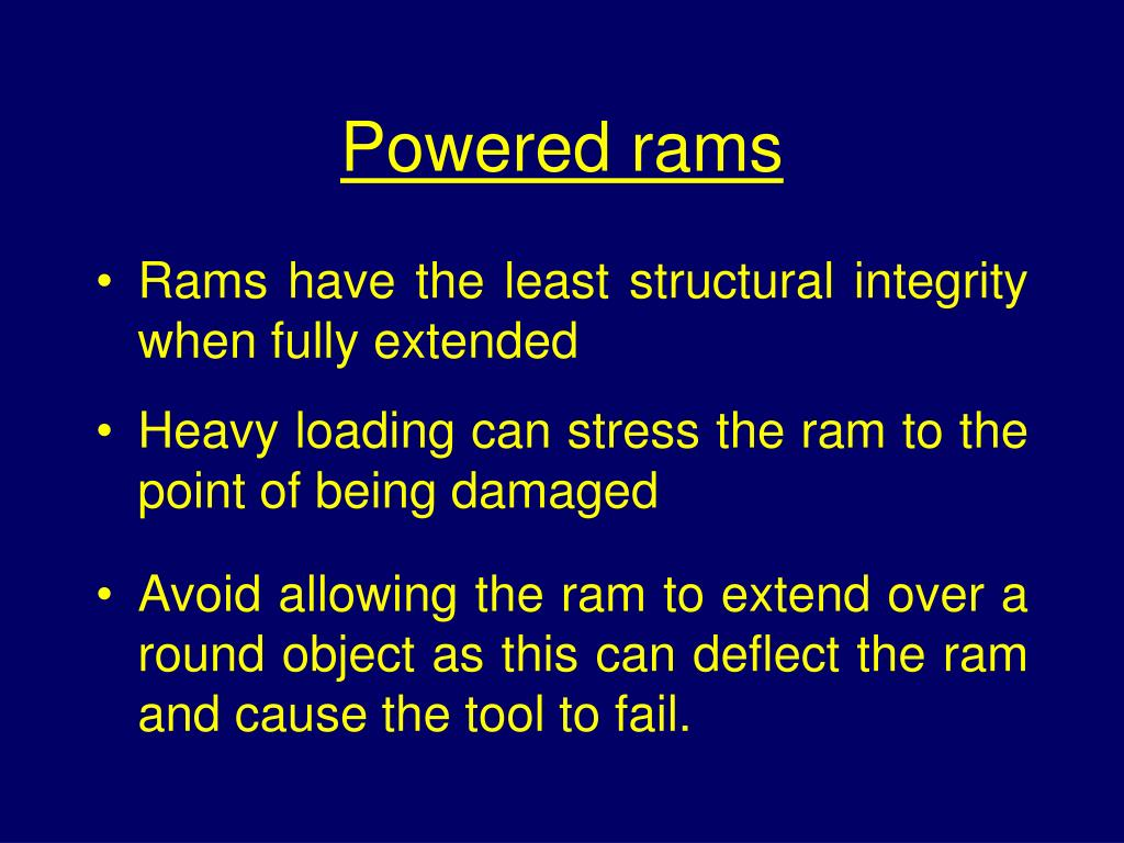 Powered rams