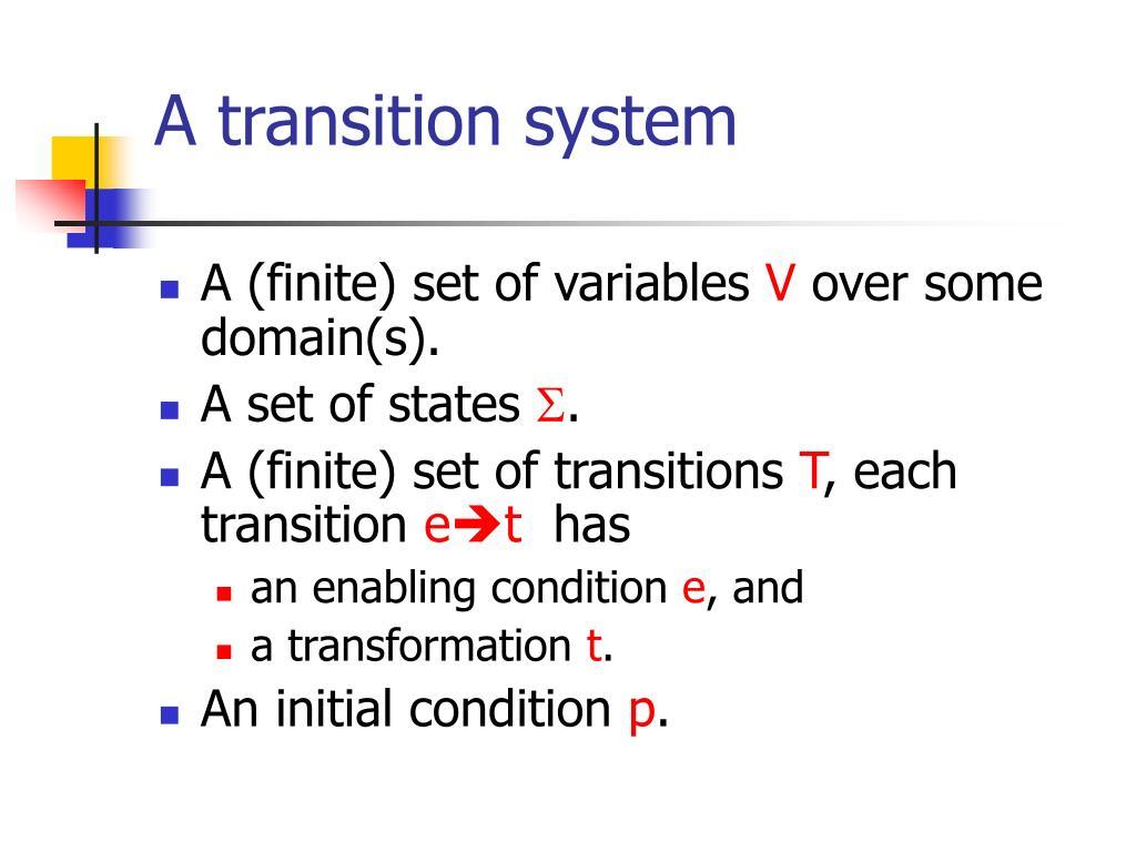 A transition system