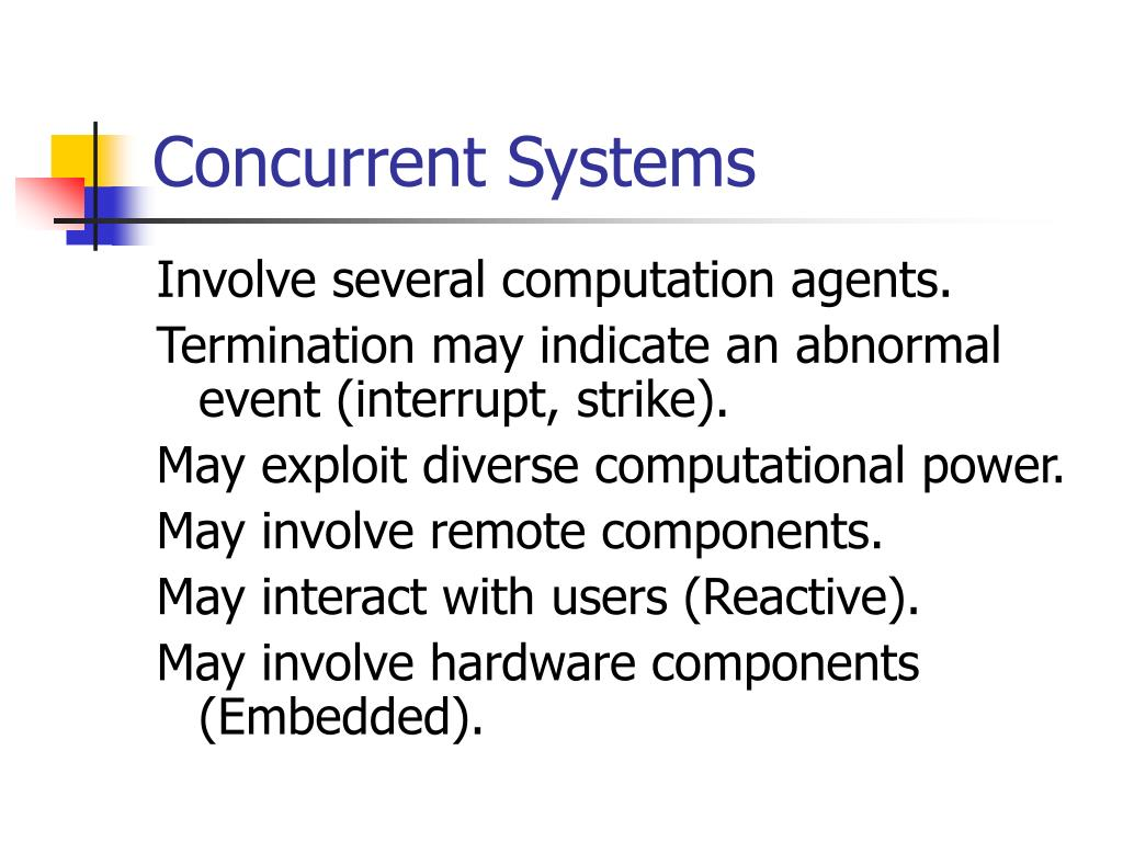 Concurrent Systems