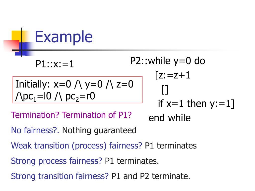 P1::x:=1