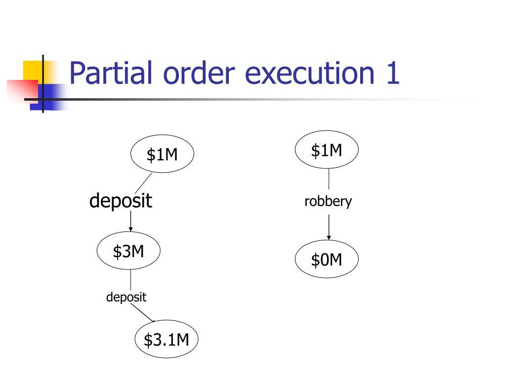 Partial order execution 1
