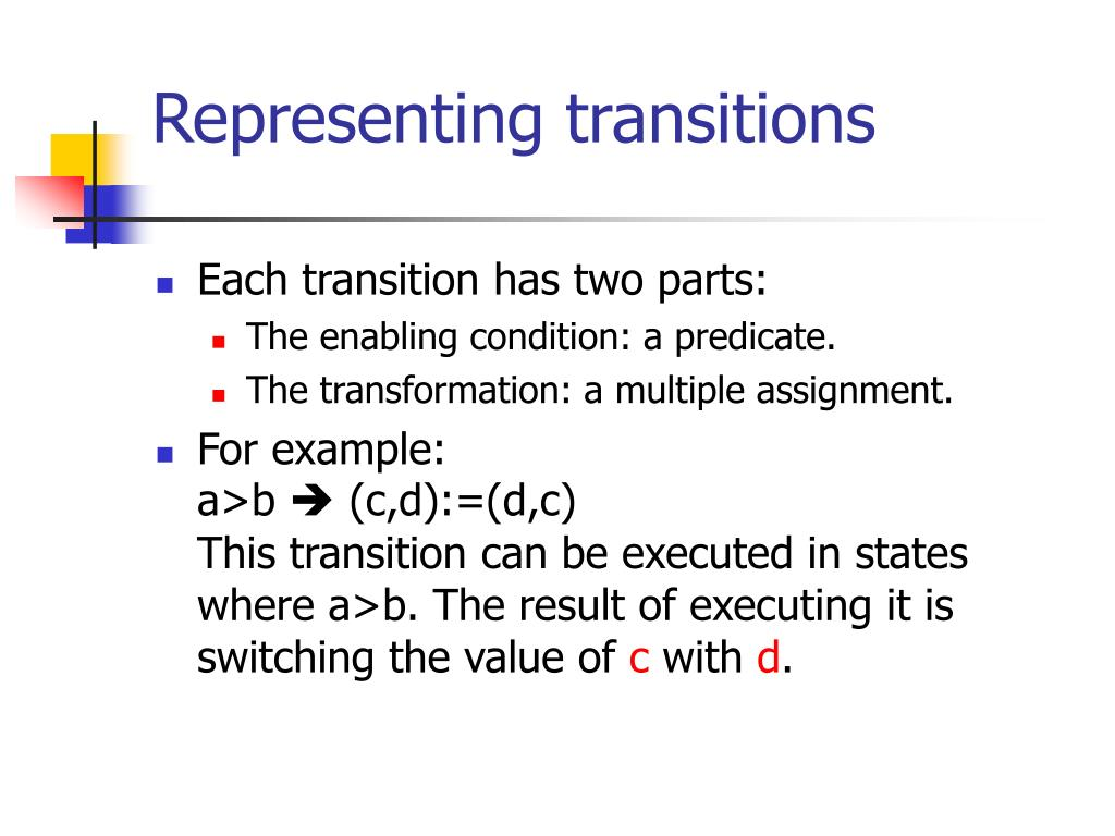 Representing transitions