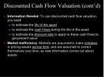 discounted cash flow valuation cont d