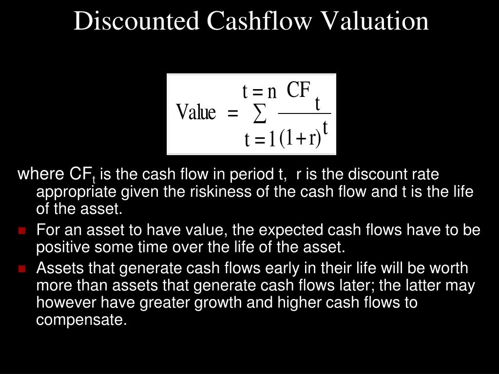 Discounted Cashflow Valuation