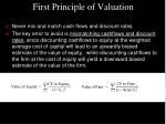 first principle of valuation21