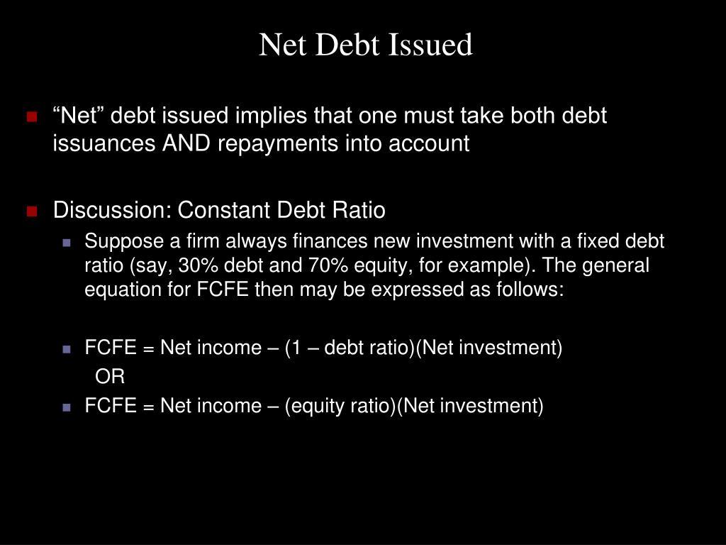 Net Debt Issued