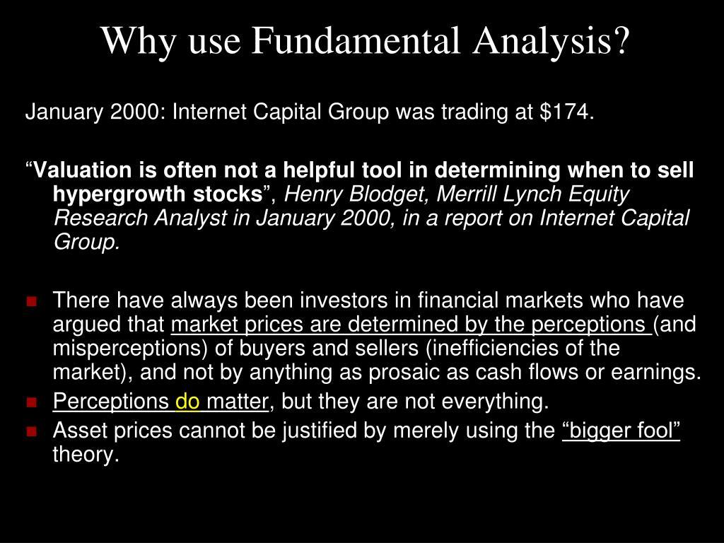 Why use Fundamental Analysis?