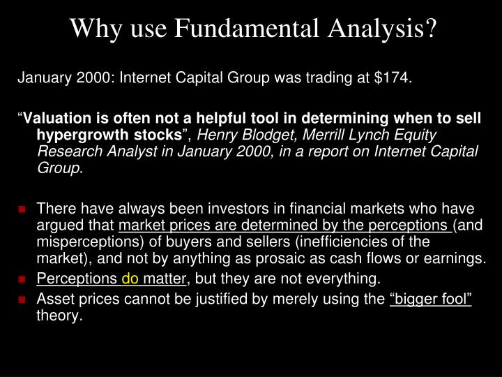 Why use fundamental analysis