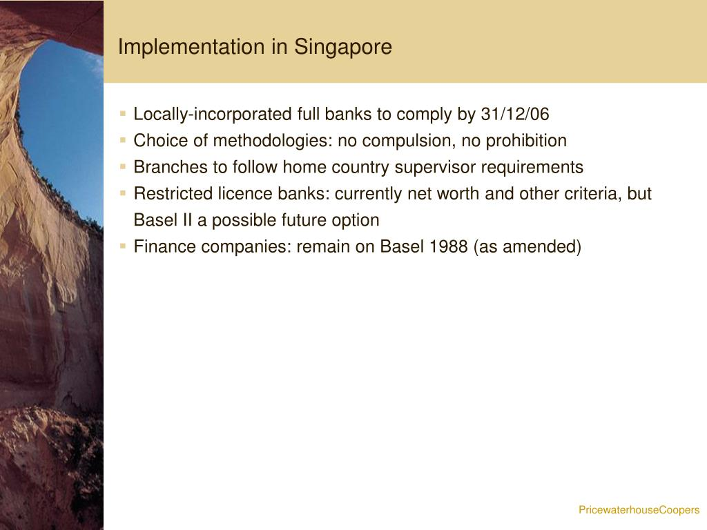 Implementation in Singapore