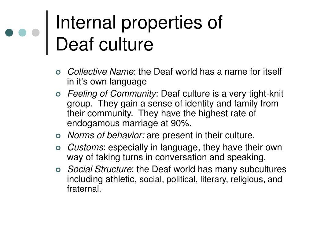 Internal properties of