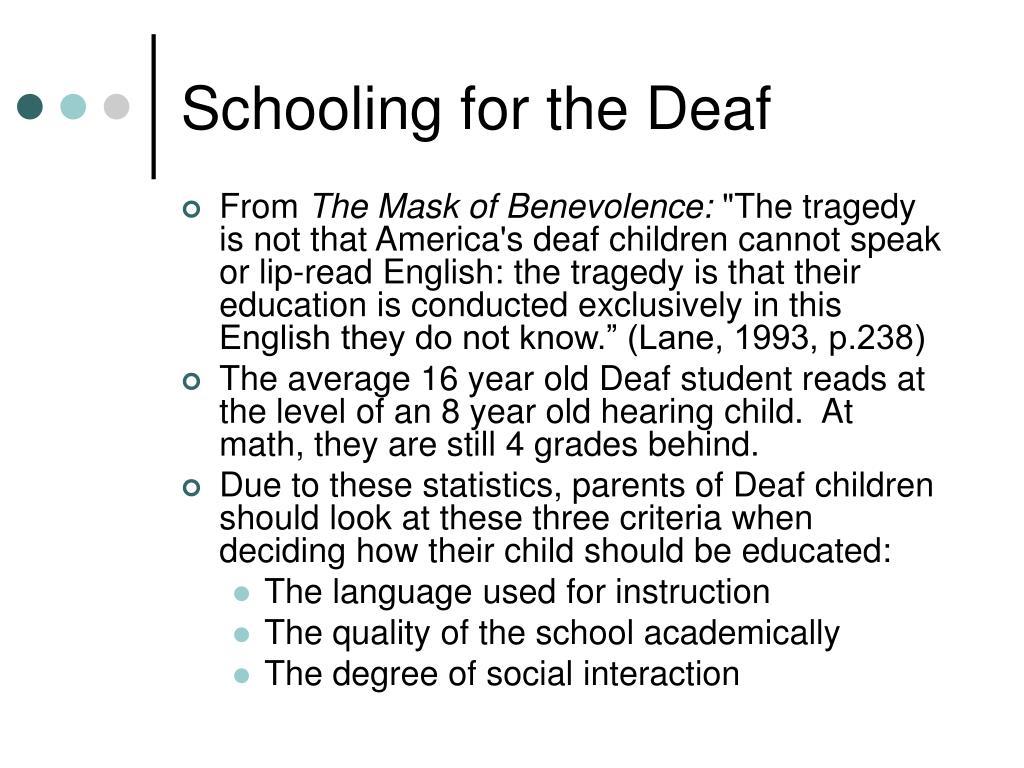 Schooling for the Deaf
